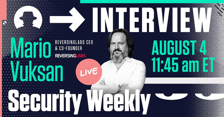 Security Weekly Live Interview with Mario Vuksan