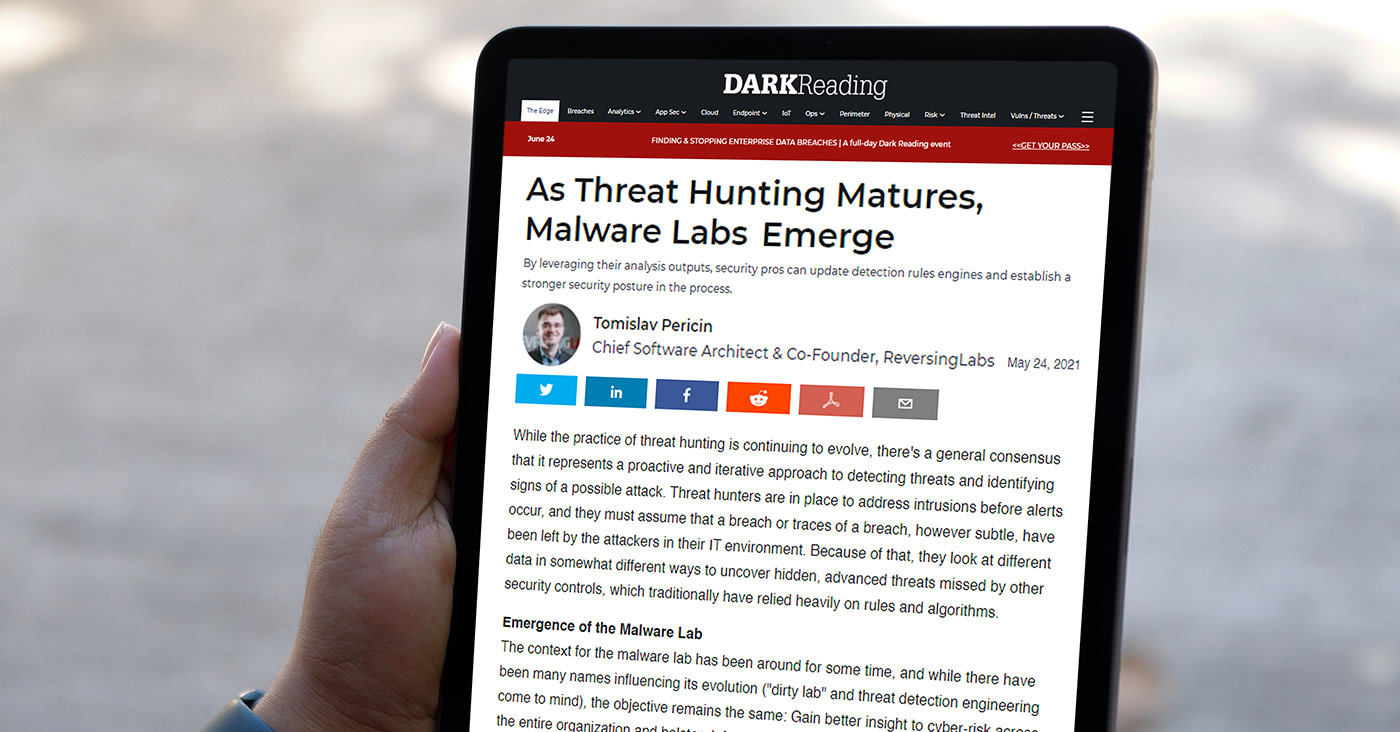 As Threat Hunting Matures, Malware Labs Emerge