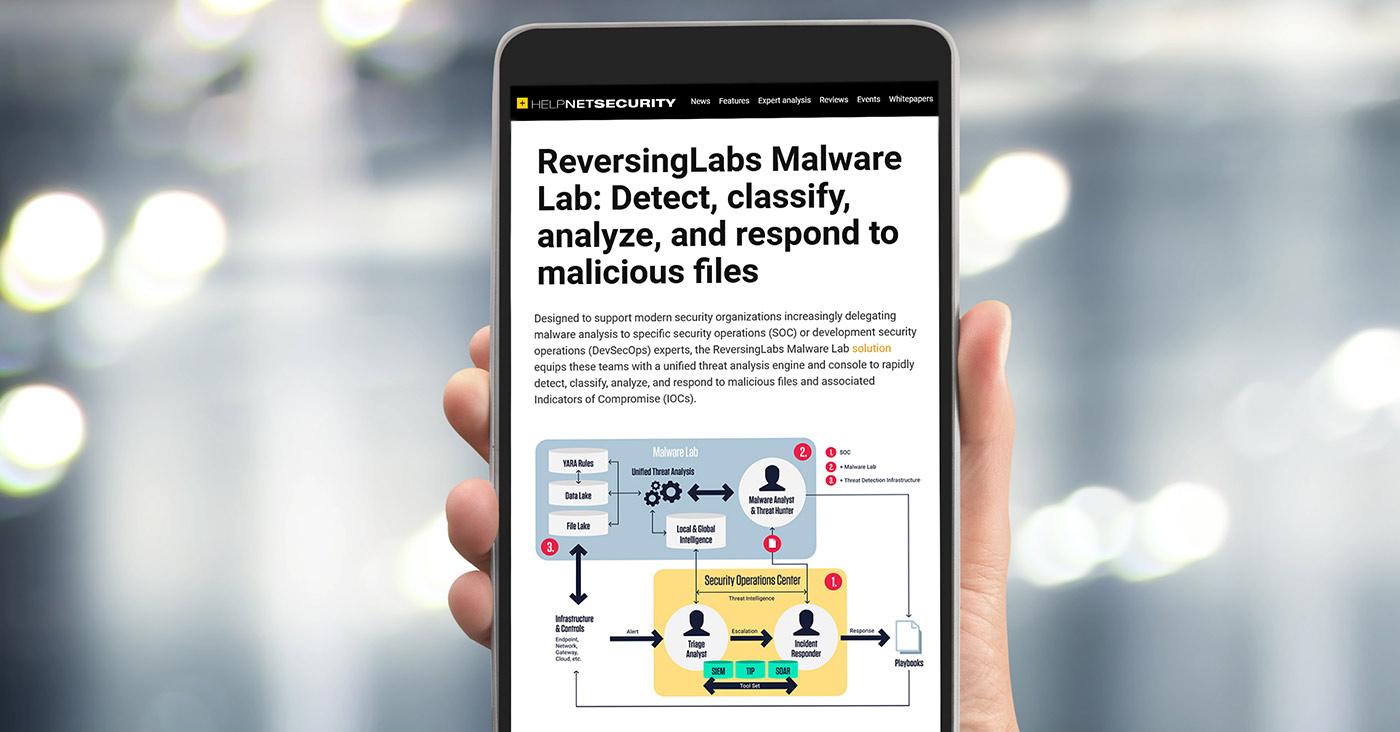 ReversingLabs Malware Lab - Detect, classify, analyze, and respond to malicious files