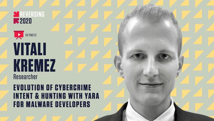 Vitali Kremez - REVERSING 2020 Keynote Speaker