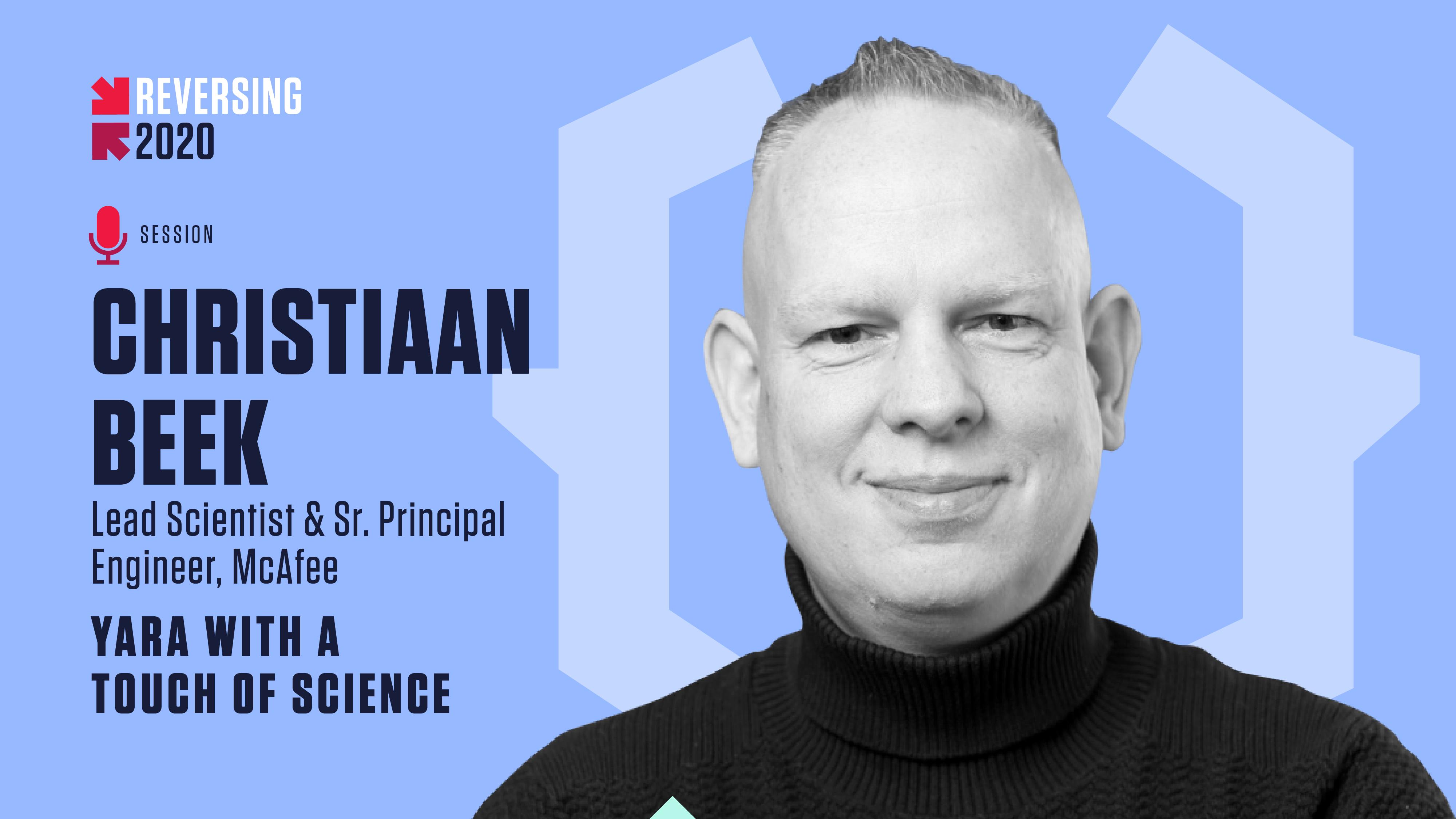 Christiaan Beek - REVERSING 2020 Speaker